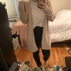 Long Pink Gap Cardigan